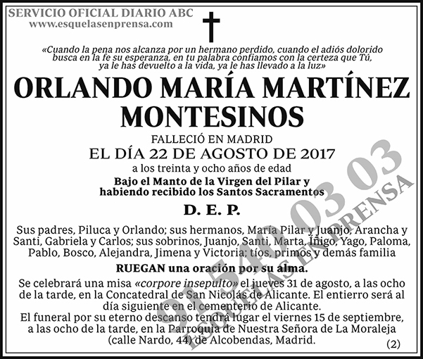Orlando María Martínez Montesinos